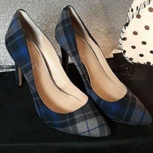 Jessica Simpson Plaid Cloth Heel